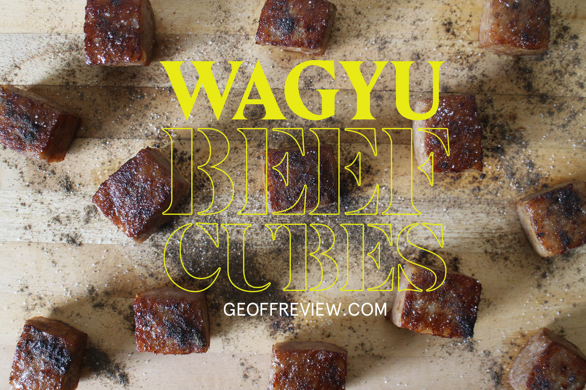 HOW TO COOK WAGYU CUBES at home