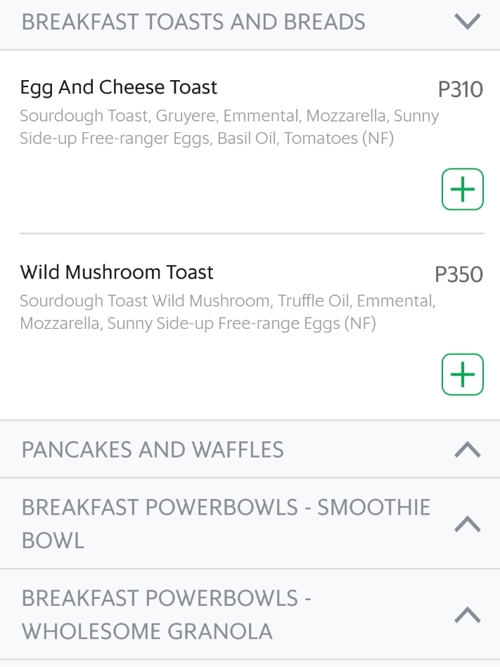 grabfood menu