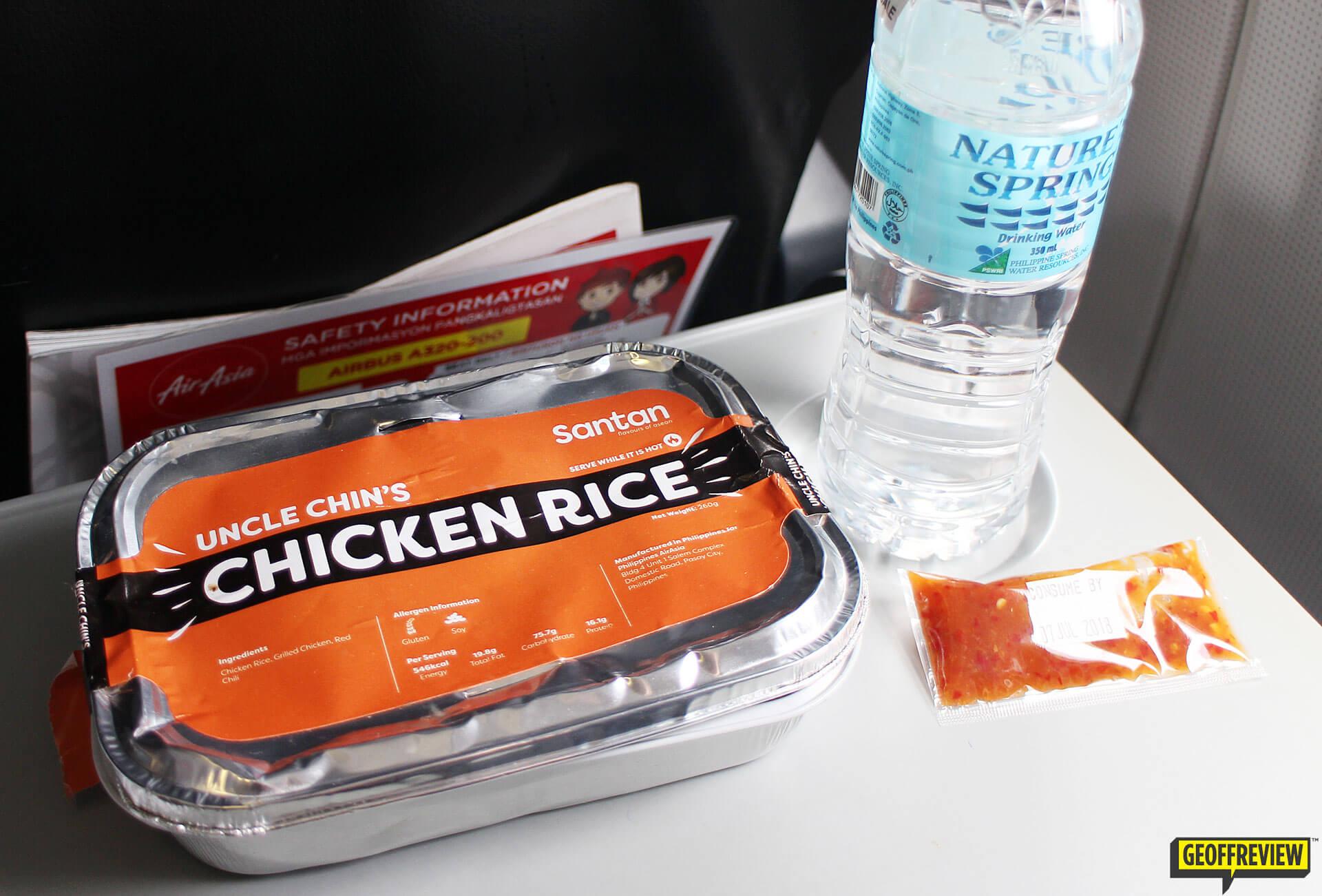 air asia santan menu