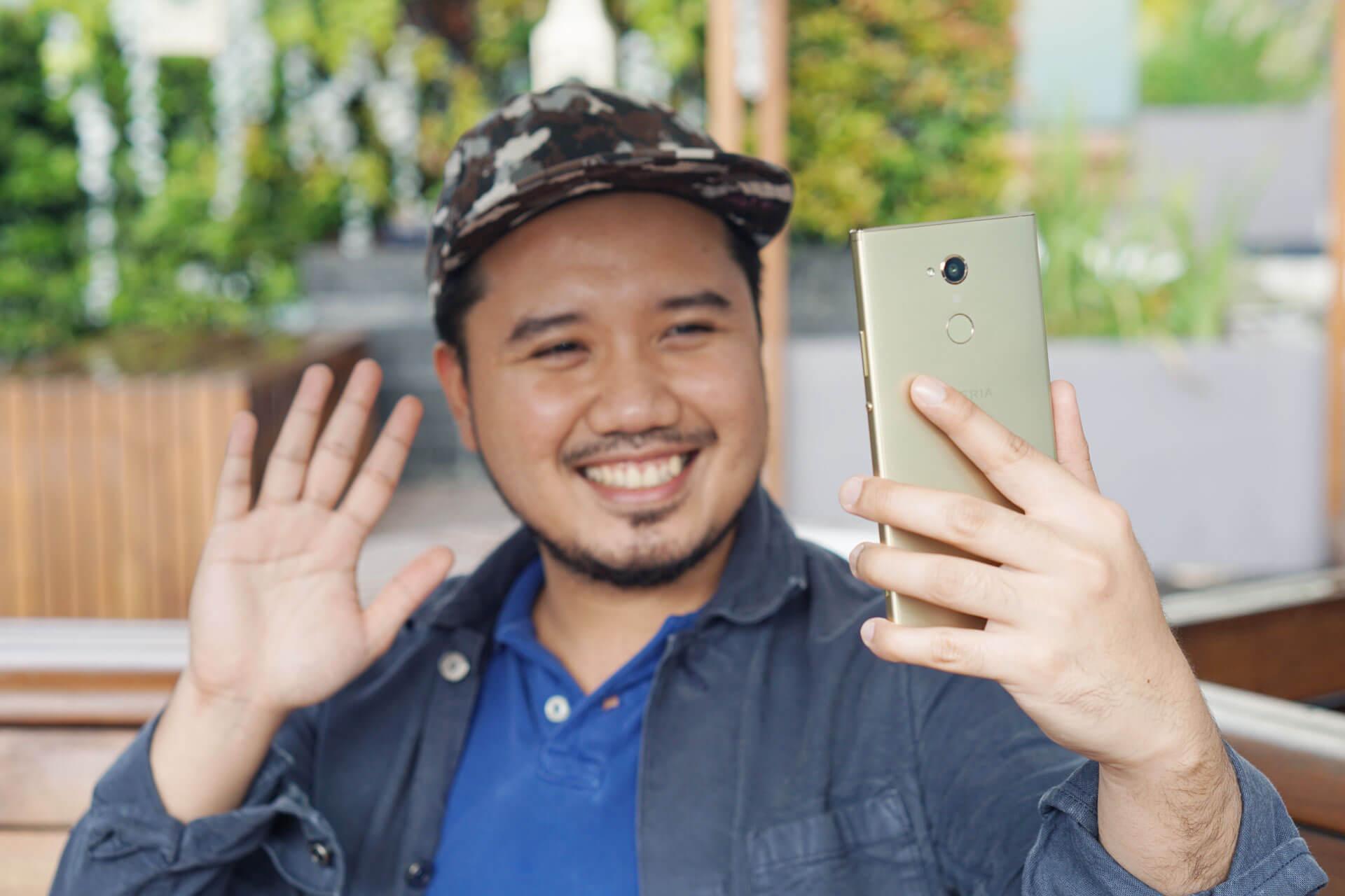 sony xperia xa2 ultra revew selfie
