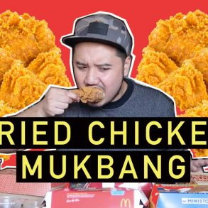 fried chicken mukbang youtube