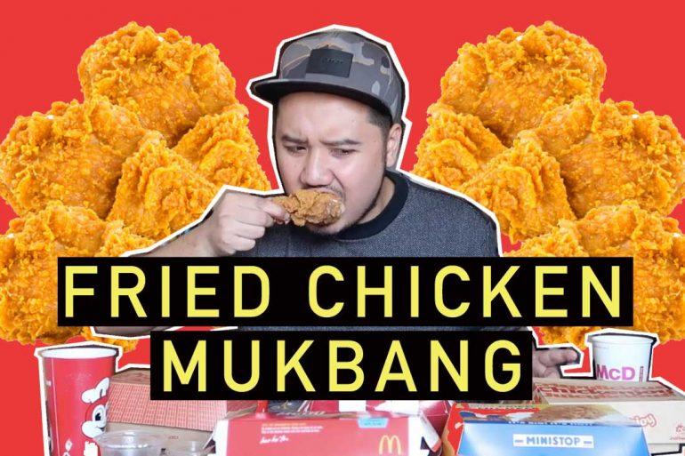 fried chicken mukbang youtube
