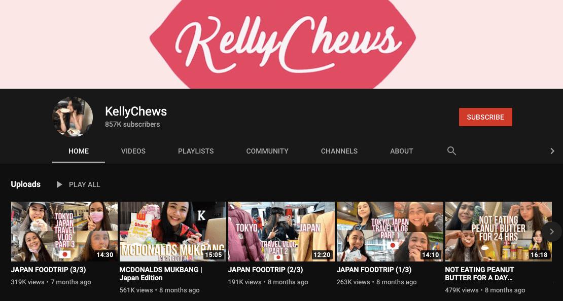 filipino mukbang vloggers kelly chews