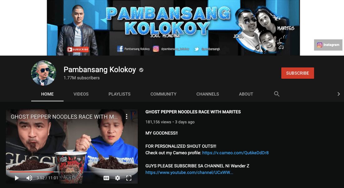 filipino mukbang vloggers pambansang kolokoy