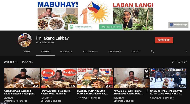 filipino mukbang vloggers pinilakang lakbay