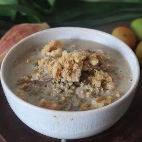 how to cook ginisang munggo monggo with puso ng saging recipe