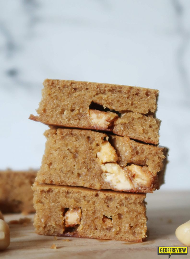 chickpea blondies with eggs